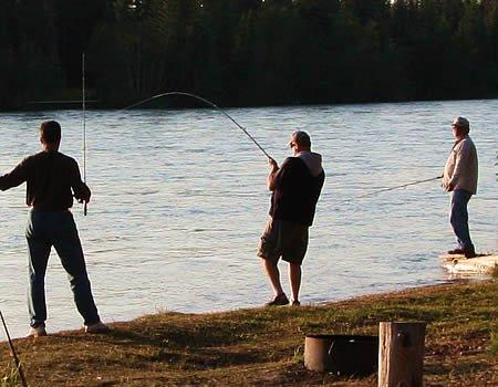 Bank fishing on the Kenai River
