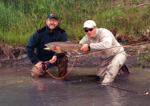 Kenai River rainbow trout fly fishing