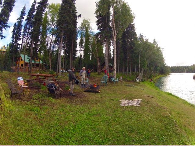 kenai river bank fishing for salmon